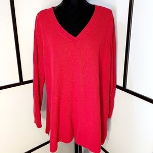 Gorgeous Red V-Neck Sweater
